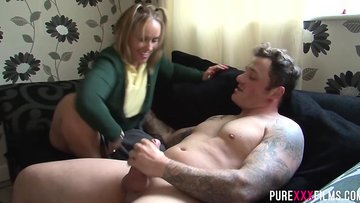 Horny stepdad merits to punish her he does it with his stick!